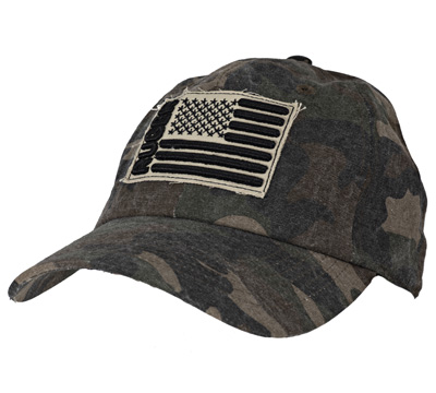 Women's Camo Cap - Frayed Embroidered patch