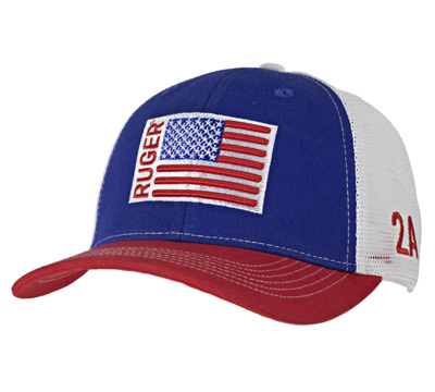 Red, White & Blue 2A Trucker Hat - Embroidered Patch