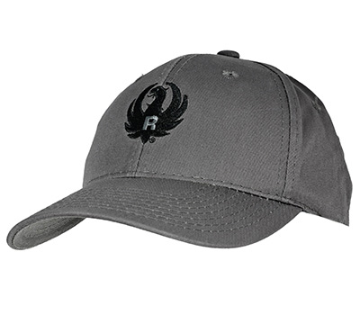 Gray and Black Brushed Twill Cap