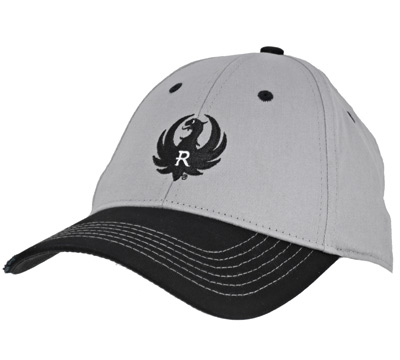 Gray and Black Distressed Twill Cap