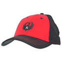 Red and Black Brushed Twill Cap