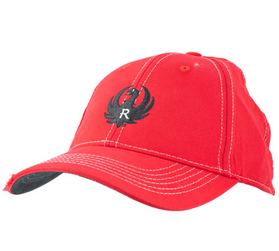 Red Brushed Twill Cap