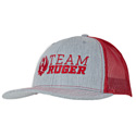 Team Ruger Trucker Cap, Heather Gray/Red