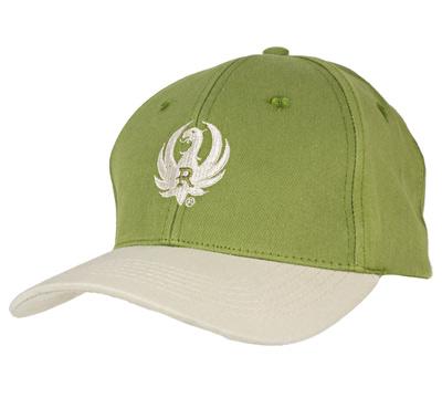Dark Olive and Khaki Cotton Twill Cap