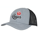 Heather Gray and Black Trucker Cap