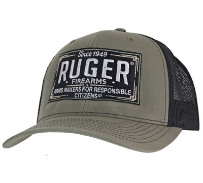 Vintage Loden and Black Trucker Cap