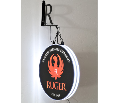 Double-Sided Halo Lighted Sign