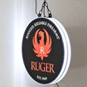 Ruger Double-Sided Halo Lighted Sign