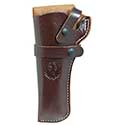 Wrangler® Triple K Western Belt Holster, Left Handed, Walnut Oil, 4-5/8