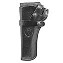 Wrangler® Triple K Western Belt Holster, Left Handed, Black, 4-5/8