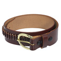 Heavy Saddle Leather Cartridge Belt, 22 LR Loops
