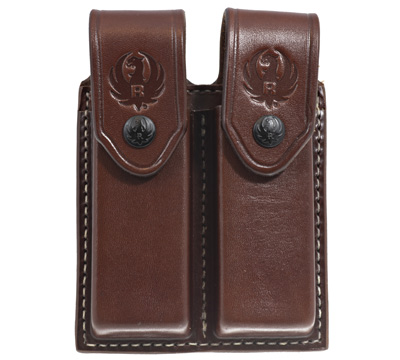 Ruger-57™ Triple K Double Mag Pouch, Walnut Oil
