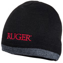Black and Heather Knit Hat