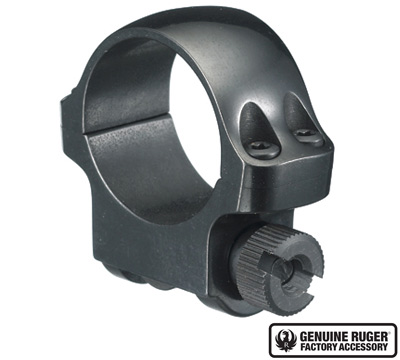 3B Low Scope Ring with Blued Finish