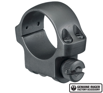 3B Low Scope Ring with Hawkeye Matte Blued Finish