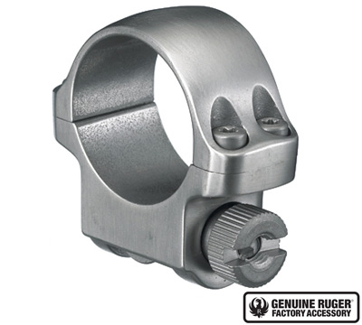3K Low Scope Ring with Stainless Finish
