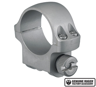 3KHM Low Scope Ring with Hawkeye Matte Stainless Finish